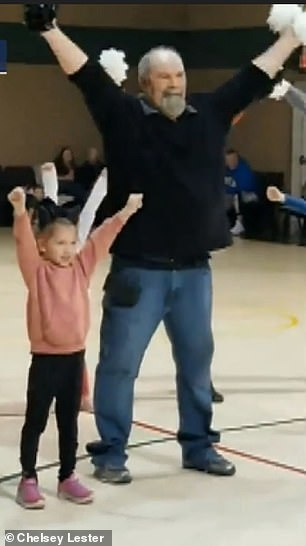 WATCH: Grandpa Helps Granddaughter By Doing the Chicken Dance With Her At Cheerleading Competition