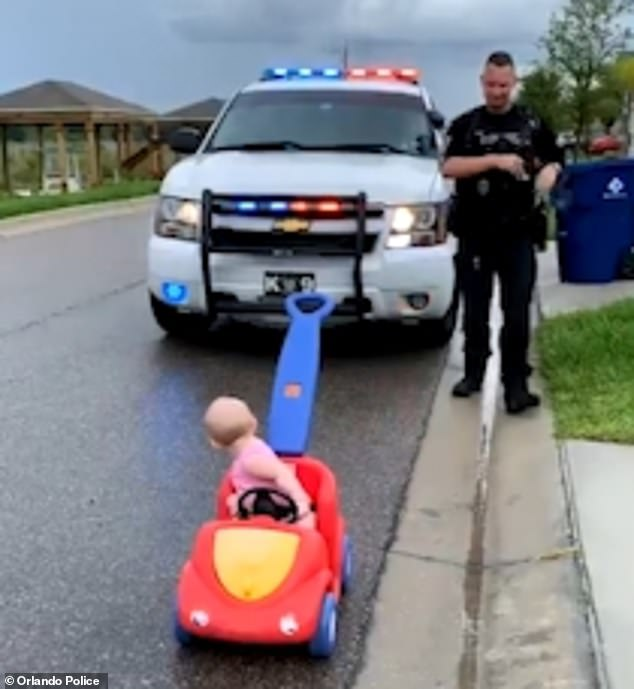 WATCH: Orlando Officer 'Pulls Over' 10-Month-Old Daughter