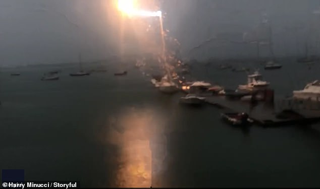 The Moment Lightning Strikes a Sailboat
