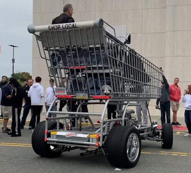 WATCH: Man Takes Giant Shopping Cart To Mall In New Jersey