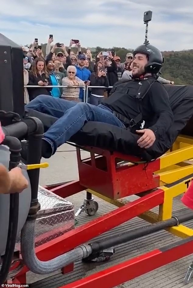 WATCH: Daredevil Gets Launched In A Human Catapult From a 880ft Bridge