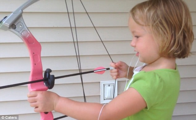 5-Year-Old Girls Pulls Tooth Out With Bow And Arrow