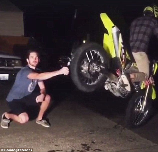 Guy Cracks Open His Beer With His Motorcycle