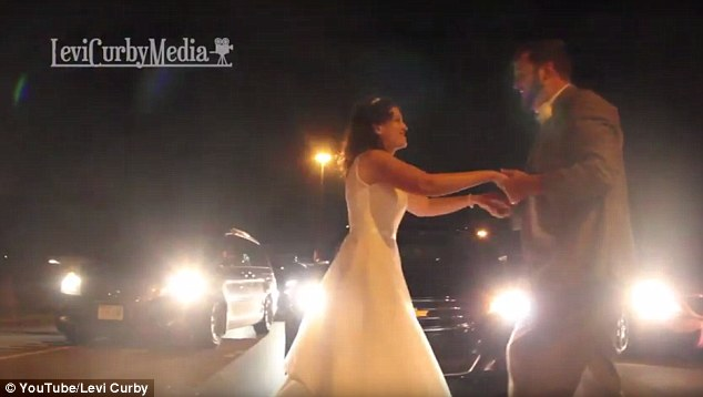 Bride & Groom Have First Dance In The Middle Of The Highway After Getting Stuck In Traffic For Over An Hour