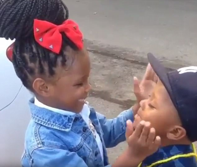 Bossy Sister Gives Her Little Brother a Pep Talk Before He Goes to School