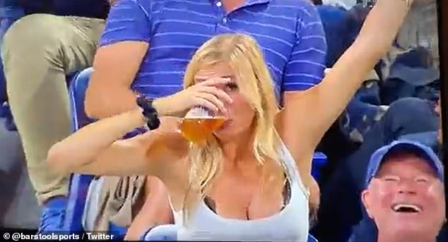 WATCH: Fan Gets US Open Fans Cheering Her On As She Downs a Beer Twice on Jumbotron