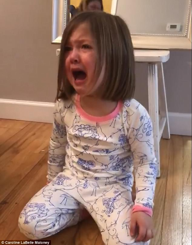 WATCH: Little Girl Balls After Finding Out She's Having A Baby Brother