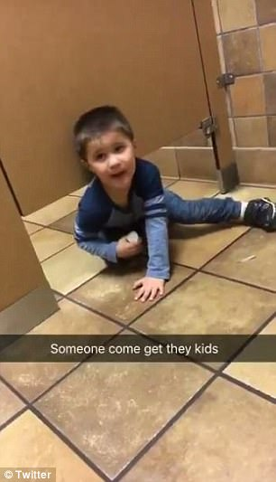 WATCH: Little Boy Climbs Under Chick-fil-A Bathroom Stall To Chat To Stranger Sitting On The Toilet