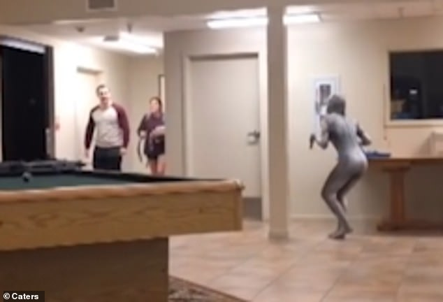 WATCH: Student Dresses Up As A Monster And Scares Her Friends
