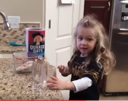 """Adorable Little Girl Has A Cooking Confusing When Told She Needed One More """"Cup"""""""