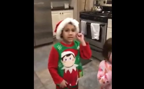 Little Kid is Terrified at the Sight of his Elf on the Shelf