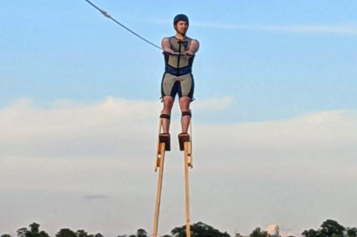 WATCH: Minnesota Man Goes Water Skiing On 11-Foot Stilts