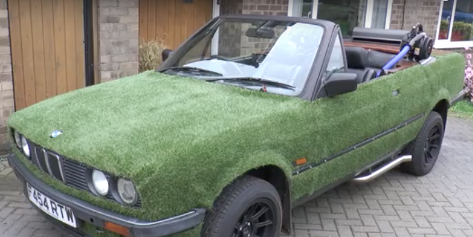 Man Turns a Car Into a Drivable Hot Tub and Grill