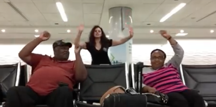 WATCH: Woman Stranded at Airport Recruits Workers for Dance Party