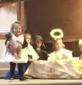 Little Girl Kidnaps Baby Jesus During Nativity Play