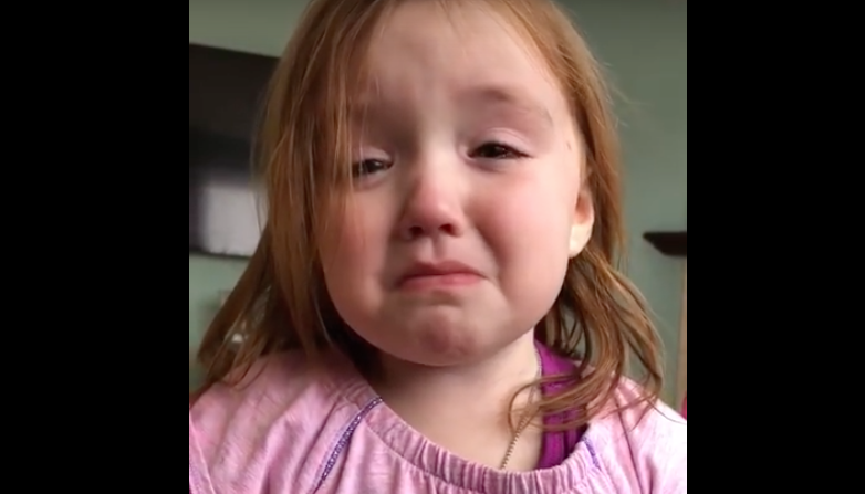 "Little Girl is Upset… ""I Can"