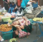 Elderly Women Get Into Hair-Pulling Fight Over Fruit Stand Set-Up