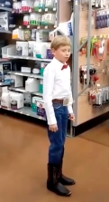 WATCH: Kid Yodels His Heart Out At Walmart