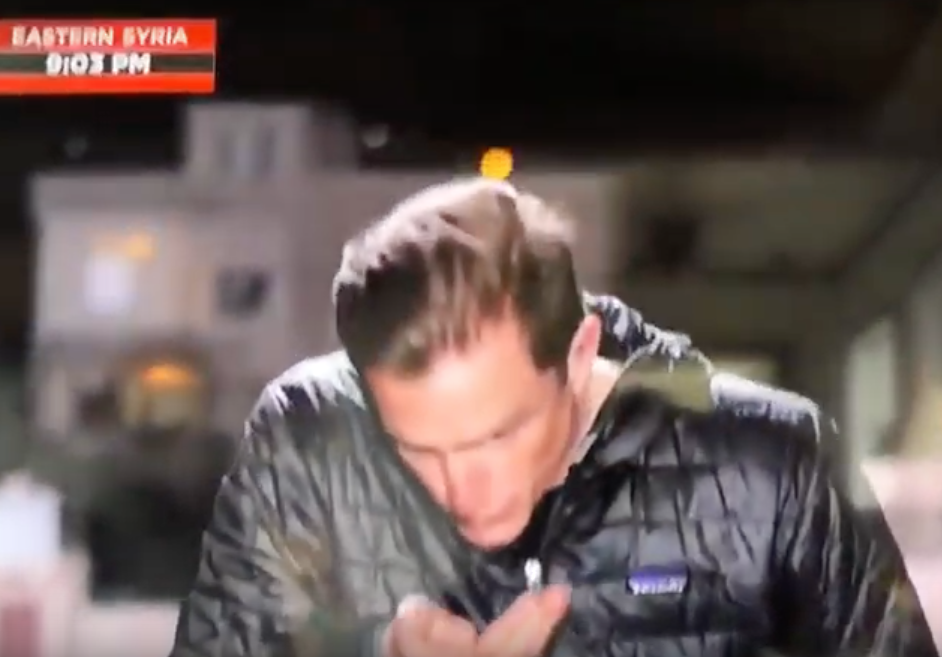 MSNBC Reporter Has No Idea He's Live on the Air, Spits in his Hands, Slicks back his Hair
