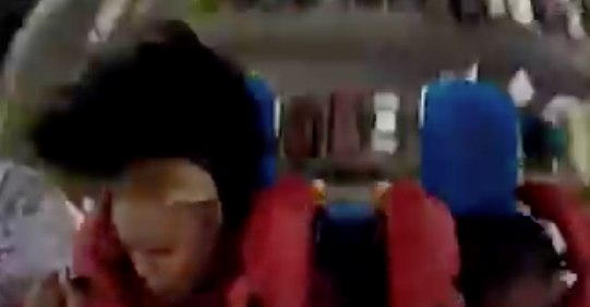 Woman Loses Her Wig on a Slingshot Ride