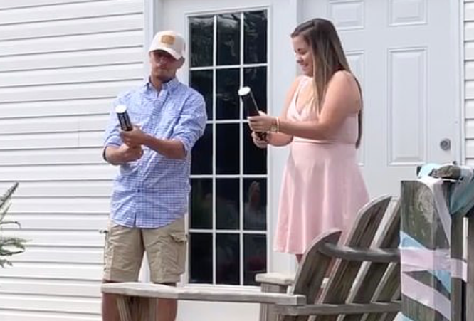 Gender Reveal Canon Backfires, Hits Dad in the Crotch