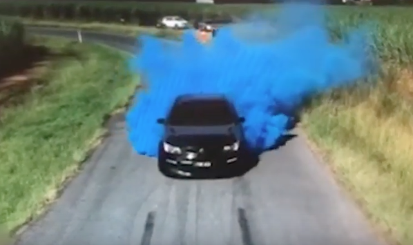 Gender Reveal Burnout was Going Well... Until the Car Started on Fire