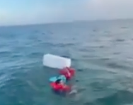 WATCH: Boat Rescue Miles Off Pasco County Coast…Thank God For The Cooler