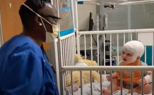 WATCH: Hospitalized Baby has Dance Party with Hospital Tech