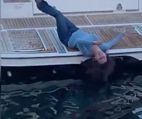 WATCH: 'Drunk' Woman Staggers on Deck of Boat Before Loosing Balance and Falling into the Water