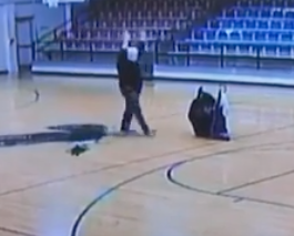 WTACH: Custodian Hits the Most Casual Half-Court Shot of All-Time