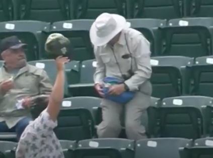 Guy Catches a Foul Ball... in His Fanny Pack