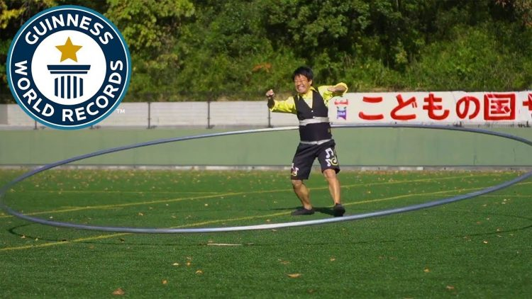WATCH: Japanese Man Sets New Guinness Record For Spinning World's Largest Hula Hoop