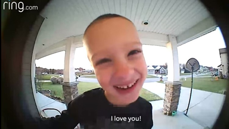 This Cute Kid Uses Video Doorbell to Get His Dad