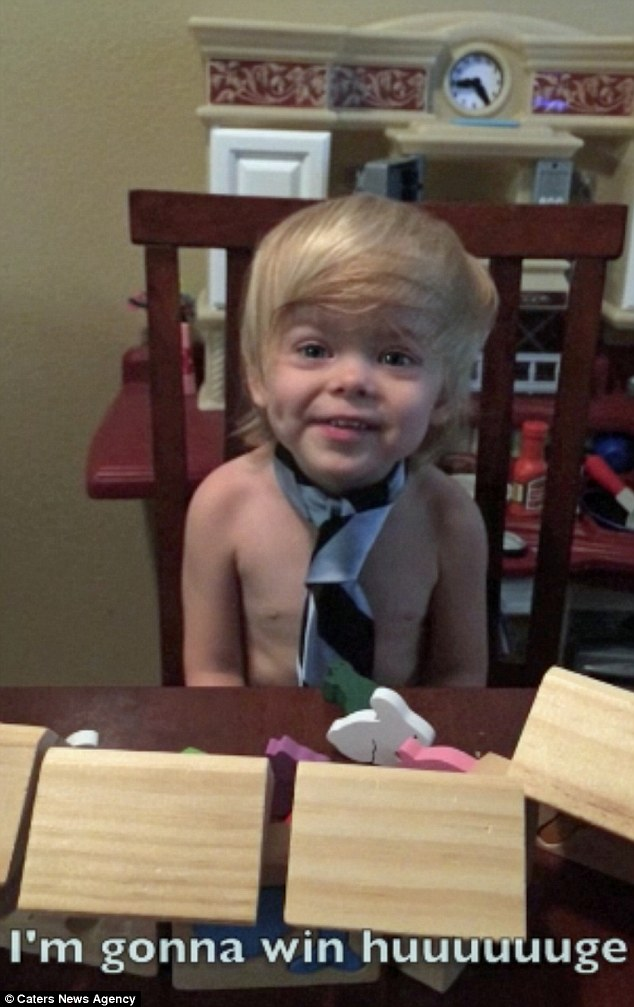 Toddler Impersonates Trump's Famous Campaing Lines